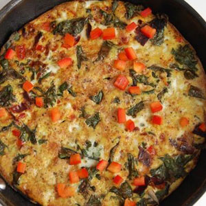 Red Kale & Red Pepper Frittata