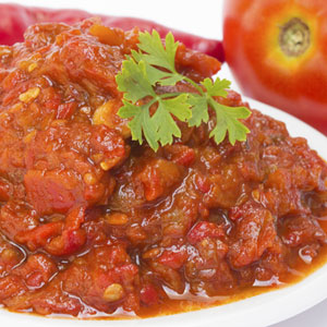 Hot & Sweet Tomato Pepper Chutney