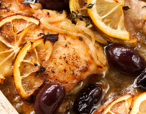 Honey Lemon Chicken with Olives