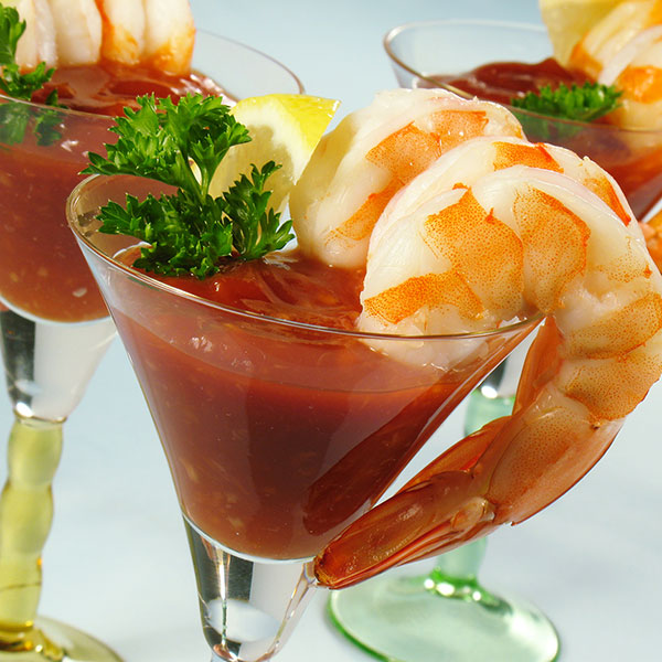 Shrimp Cocktail with Jalapeño Onion Sauce
