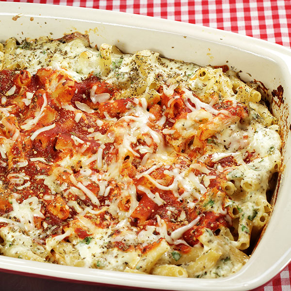 Four Cheese Baked Ziti