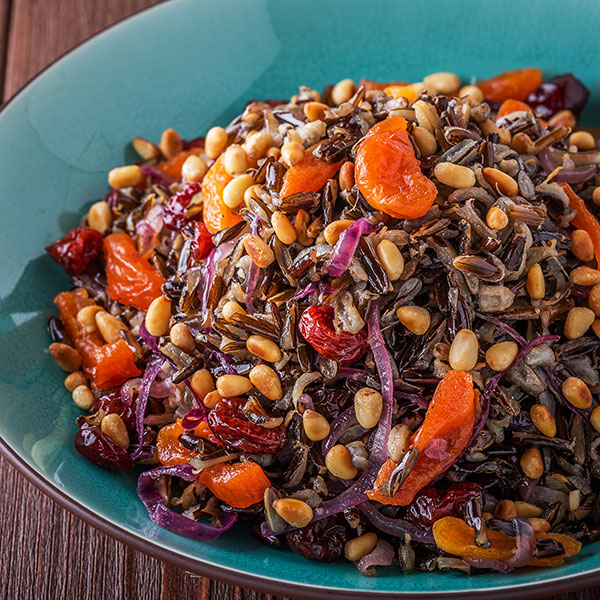 Wild Rice and Dried Fruit Pilaf