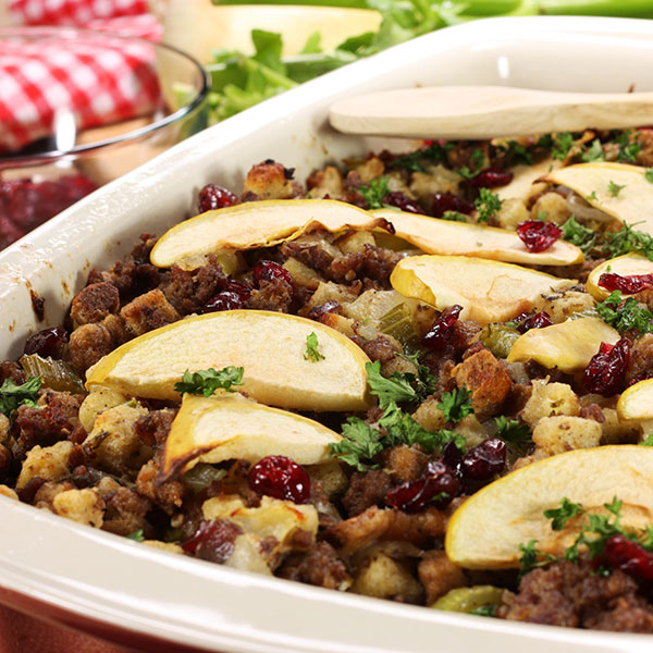 Apple, Sausage and Cranberry Stuffing
