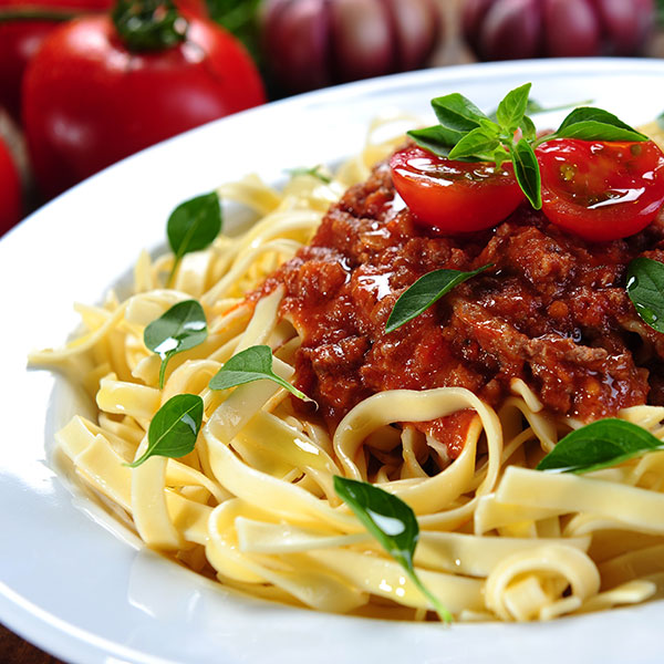 Chicken Bolognese with Crispy Basil