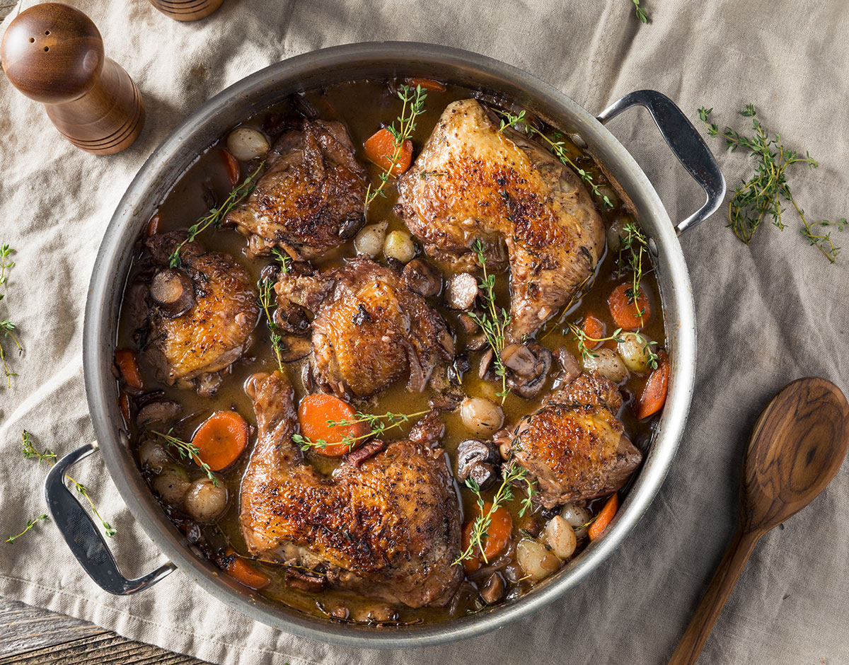 Braised Chicken and Root Vegetables