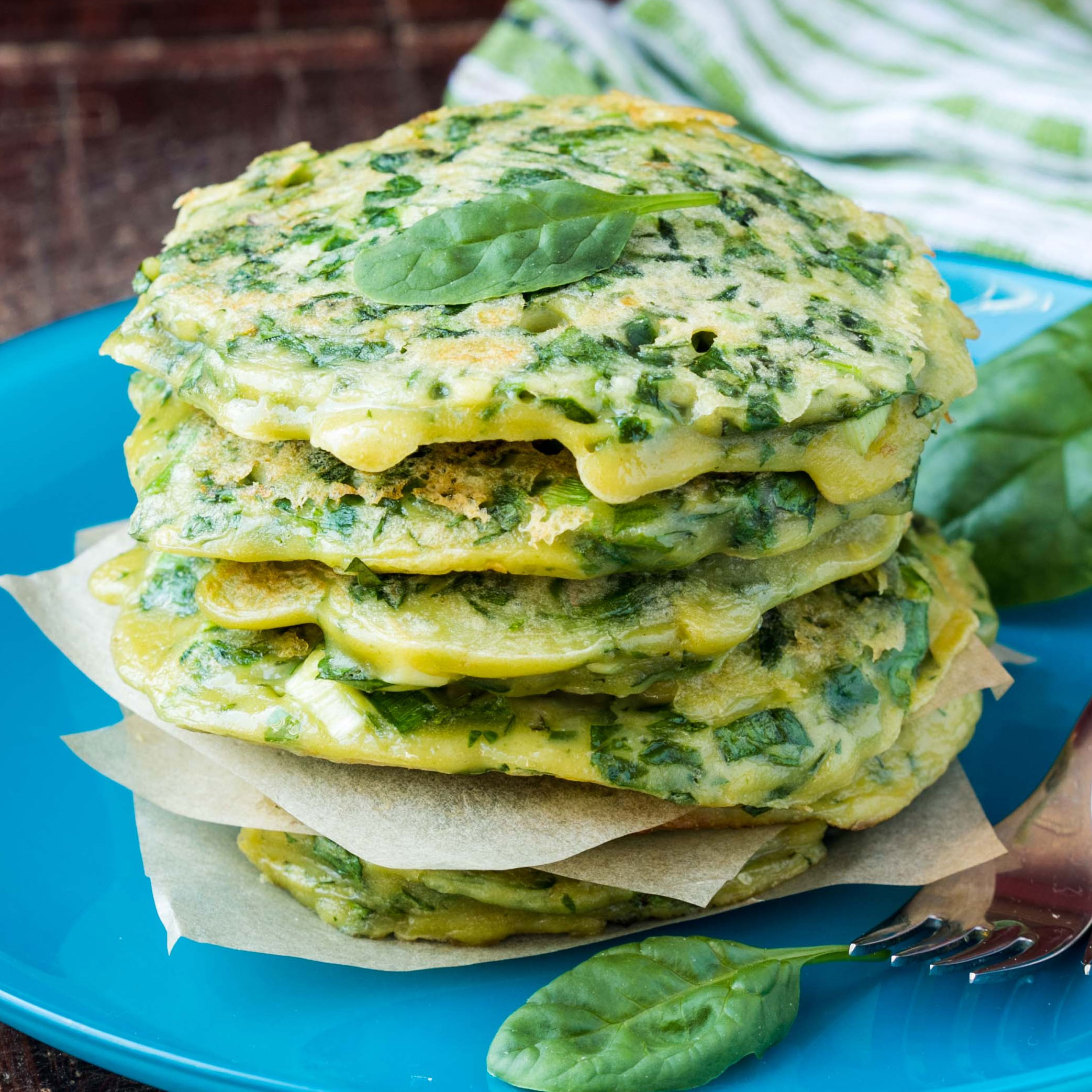 Spinach and Onion Pancakes